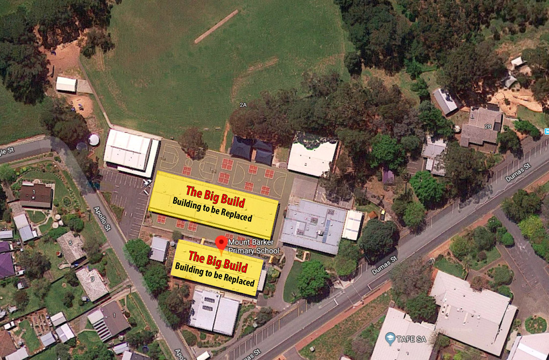 Mt Barker Primary School Big Build Demolition Map